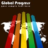 Global progress. World progress image business background template Stock Images
