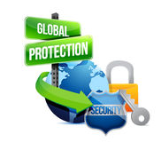 Global protection earth concept illustration Royalty Free Stock Photo