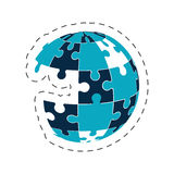 Global puzzle solution image Stock Photos