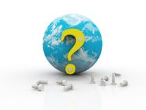 Global question Royalty Free Stock Photography
