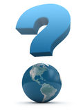 Global question Royalty Free Stock Images