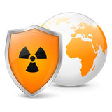 Global radiation safety vector illustration