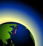 Global radioactive biohazard Royalty Free Stock Photography