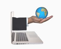 Global reach  Royalty Free Stock Photo
