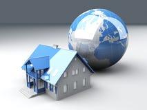 Global Real Estate. Real estate arround the World. 3D rendered Illustration royalty free illustration