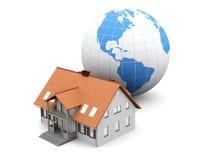 Global Real Estate. Real estate around the World. 3D rendered Illustration royalty free illustration