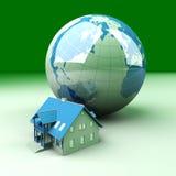 Global Real Estate. Real estate around the World. 3D rendered Illustration stock illustration