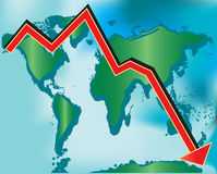 Global Recession Stock Image