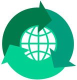 Global Recycle Arrows Royalty Free Stock Images