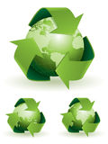 Global recycling concept Stock Photos