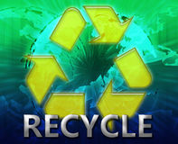 Global recycling eco symbol Stock Photography