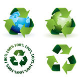 Global recycling icons. Please check my portfolio for more recycling illustrations Stock Photos