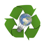 Global recycling idea Stock Photos