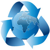 Global recycling sign Stock Photo