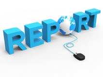 Global Report Represents World Wide Web And Analysis Stock Photos