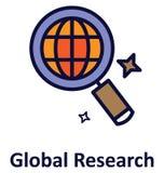 Global Research a isolé l'icône de vecteur qui peut facilement modifié ou éditer illustration libre de droits