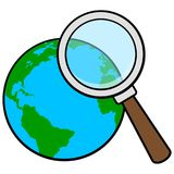 Global Research. A vector illustration of a Global Research concept Stock Photo
