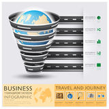 Global Road And Street For Travel And Journey Business Infograph Royalty Free Stock Image