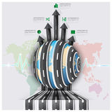 Global Road And Street For Travel And Journey Business Infograph Royalty Free Stock Images