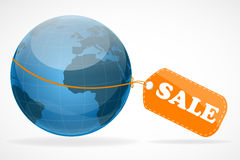 Global sale tag Royalty Free Stock Images