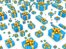 Global sales concept - gifts Royalty Free Stock Images