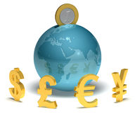 Global savings 3D Stock Photography