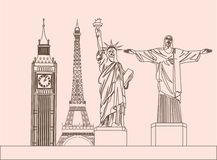 Global sculptures Royalty Free Stock Images