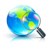 Global search concept Stock Photos