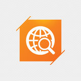 Global search sign icon. World globe symbol. Royalty Free Stock Images