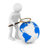 Global search on white Royalty Free Stock Images