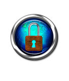 Global security button Stock Photography