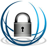 Global Security Icon Royalty Free Stock Photos