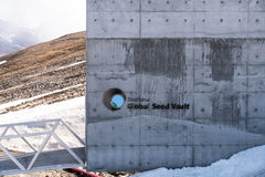 Global Seed Vault entrance Royalty Free Stock Image