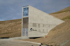 Global seed vault Svalbard Norway. The Svalbard Global Seed Vault Norwegian: Svalbard globale frøhvelv is a secure seed bank on the Norwegian island of royalty free stock photos