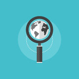 Global SEO flat icon illustration Stock Image