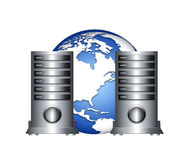 Global server. S infrastructure, it and global internet equipment royalty free illustration