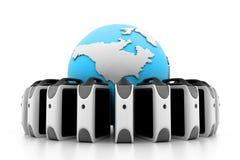 Global server network Stock Photo