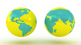 Global Set with Map Series Stock Photography