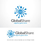 Global Share Logo Template Design Vector, Emblem, Design Concept, Creative Symbol, Icon. This design suitable for logo, symbol, emblem or icon Stock Photos