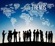 Global Shares Trends Ideas Sales Solution Expertise Concept Stock Photo