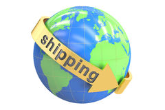 Global shipping concept, 3D rendering Royalty Free Stock Images