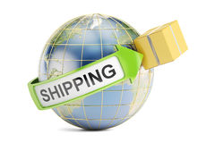 Global shipping and delivery concept, 3D rendering Royalty Free Stock Photography
