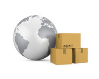 Global Shipping Illustration Royalty Free Stock Image