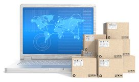 Global shipping. Stock Image