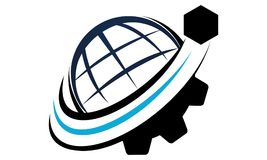 Global Shipping Logo Design Template Royalty Free Stock Image