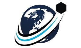 Global Shipping Logo Design Template Stock Photo