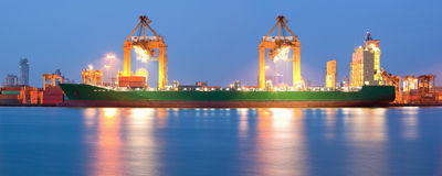 Global shipping Panorama Royalty Free Stock Photography