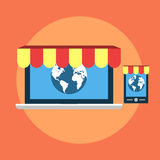 Global shop Stock Photography