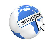 Global Shoping. Concept  in 3D Royalty Free Stock Photography