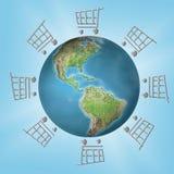 Global shopping Royalty Free Stock Photos